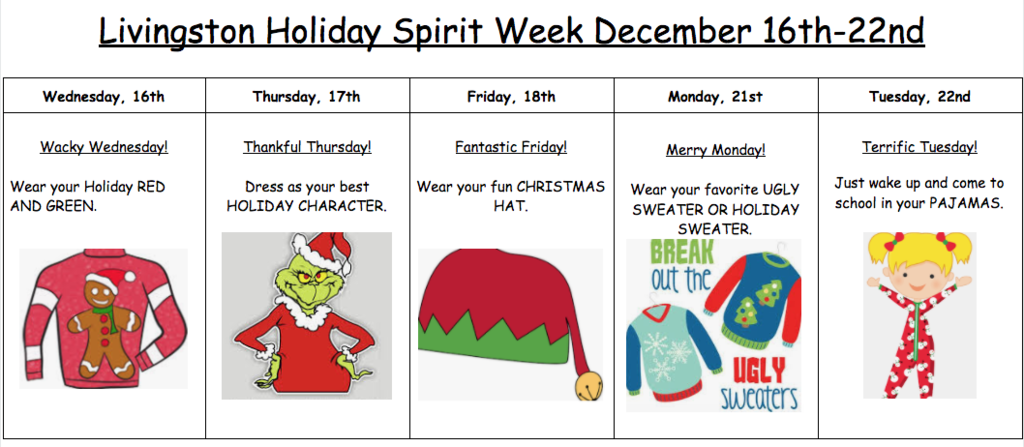 Holiday Spirt Week 20-21