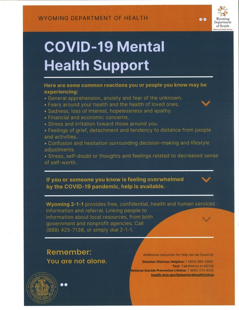 COVID-19 Mental Health Poster